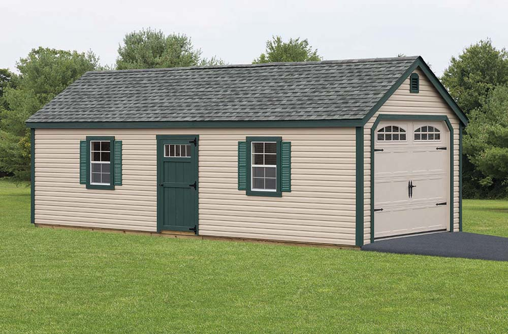 garages builders lancaster amish site garage on built pa york