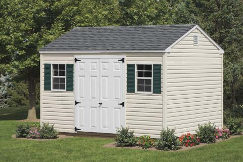 Vinyl A-Frame Shed Cream/White