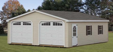 2 car garages lancaster pa shed builders for Two car garage shed